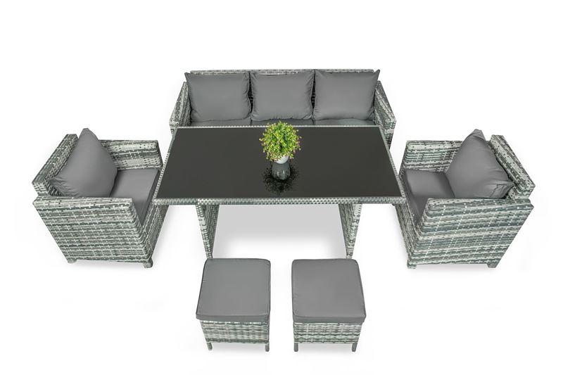 Zestaw mebli ogrodowych balkonowych rattanowych Deluxe Jasny